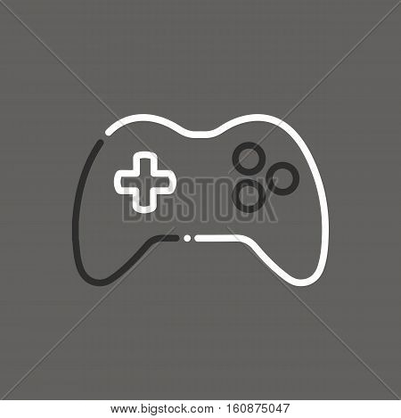 Joystick Joypad Game Controller Icon Logo Vintage Retro Illustration Flat Vector Stock