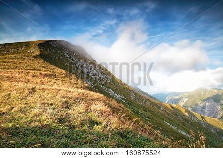 mountain over blue sky during sunny day Austria