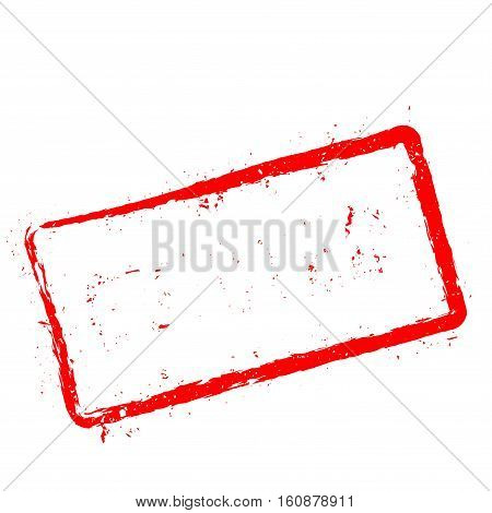 Evicted Red Rubber Stamp Isolated On White Background. Grunge Rectangular Seal With Text, Ink Textur