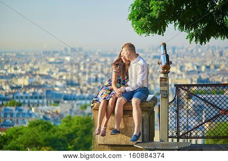 Young Romantic Couple Having A Date In Paris, France
