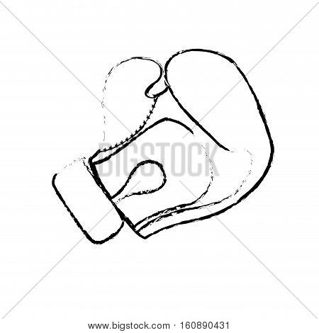 boxing glove icon over white background. sport equipment concept. vector illustration