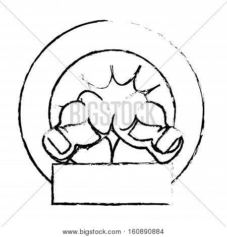 boxing gloves icon over white background. sport equipment concept. vector illustration