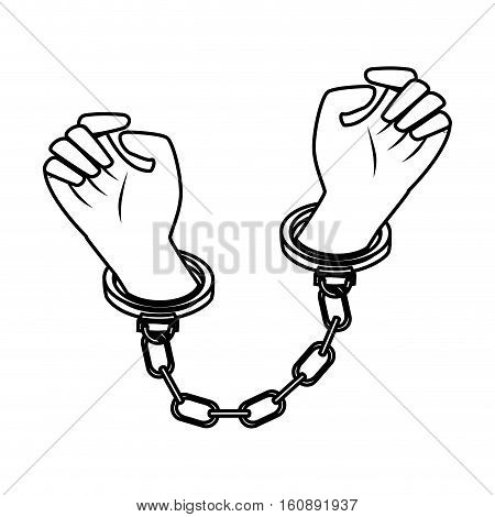 handcuffs police isolated icon vector illustration design