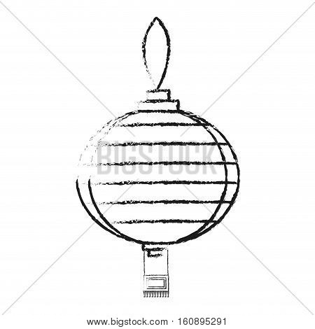 Lamp icon. China cultura asia chinese theme. Isolated design. Vector illustration