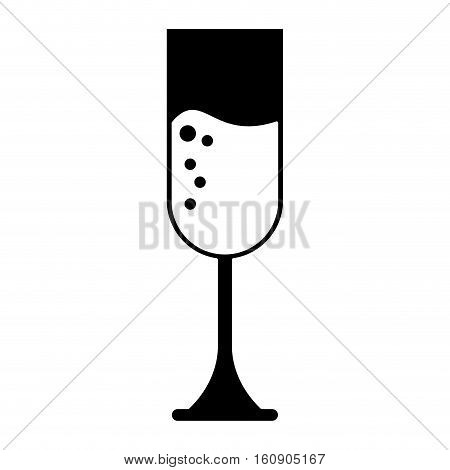 silhouette cup glass champagne love celebration vector illustration eps 10