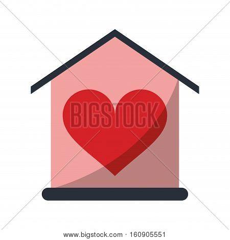 house love heart beauitful card vector illustration eps 10