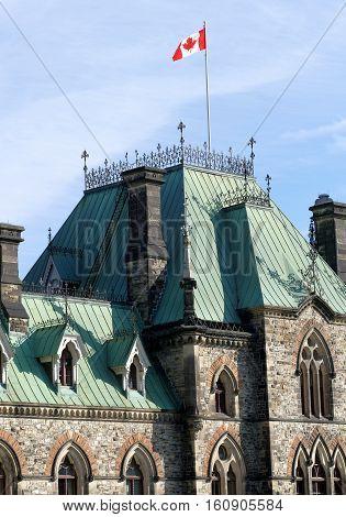 Ottawa, Canada. November 14Th 2016 - Parliament Of Canada On Parliament Hill In Ottawa