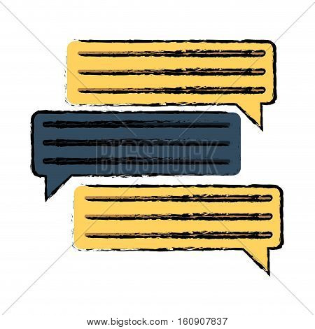 drawing set bubbles speech dialog speak text vector illustration eps 10
