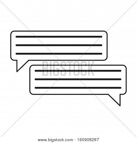 bubbles speech dialog speak text outline vector illustration eps 10