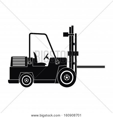 silhouette truck forklift warehouse machine work vector illustration eps 10