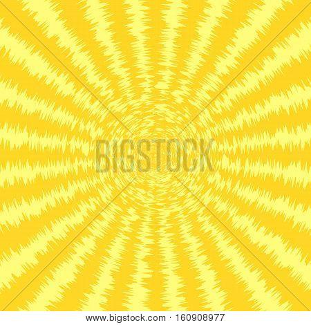 Sunburst abstract roughen yellow background. Vector illustration eps10.