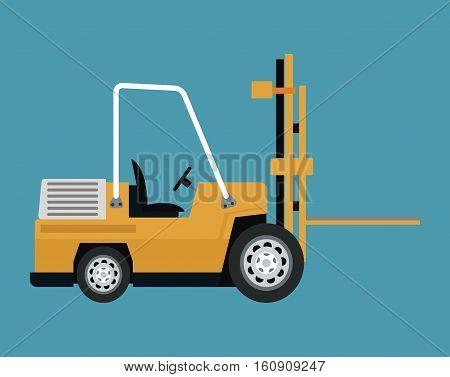 truck forklift warehouse machine work vector illustration eps 10