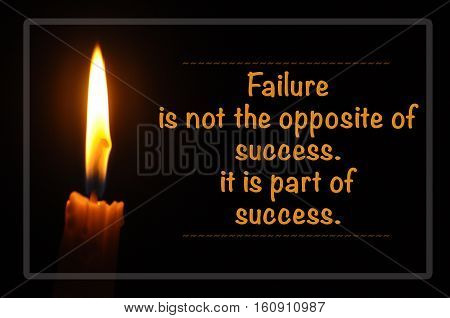Inspirational Motivating Quote Of Candle With Flame In Dark Background