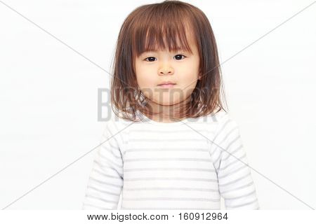 Smiling cite Japanese girl (2 years old)