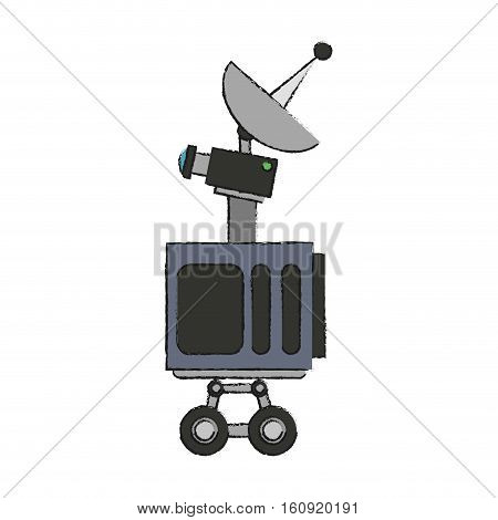 Antenna icon. Broadcast internet technology and communication theme. Isolated design. Vector illustration