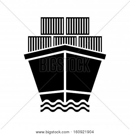 Freigther cargo ship icon vector illustration graphic design