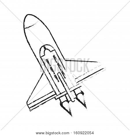 Rocket icon. Spaceship aircraft start up and shuttle theme. Isolated design. Vector illustration