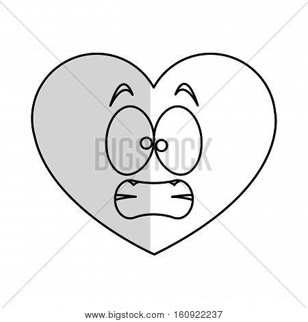 Heart cartoon icon. Love passion and romantic theme. Isolated design. Vector illustration