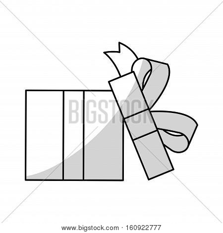 Gift icon. Present holiday celebration and surprise theme. Isolated design. Vector illustration