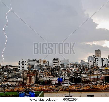 A Lightning Over The Rooftops