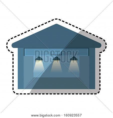 Storehouse delivery building icon vector illustration graphic design