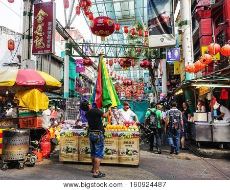 People Walk In Chinatown, Kuala Lumpur