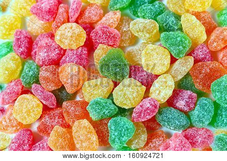 a small bunch of candied candy as part of a dessert