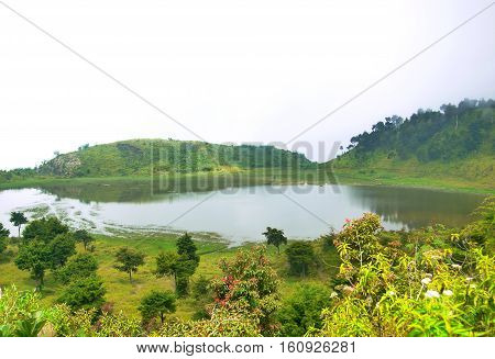 Dringo Lake. This beautiful lake is situated on the island of Java, precisely in Batang and the border Banjarnegara in Central Java. Dringo lake is actually not far from Dieng; the route is after Candradimuka crater at Dieng. For those who traveled to Die