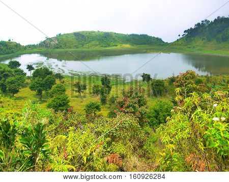 Dringo Lake. Have you ever heard About Telaga Dringo or Dringo Lake? This beautiful lake is situated on the island of Java, precisely in Batang and the border Banjarnegara in Central Java. Dringo lake is actually not far from Dieng; the route is after Can