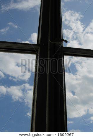 Cross, Window And Sky