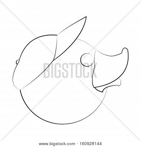 Toy duck cartoon icon. Childhood play cute and game theme. Isolated design. Vector illustration