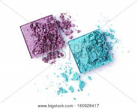Teal And Purple Broken Eyeshadows