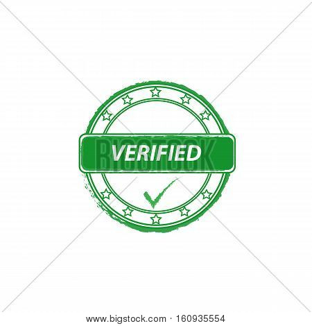 verified grunge stamp with tick vector icon