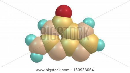 Guanine is one of the four main nucleobases found in the nucleic acids DNA and RNA. 3d illustration