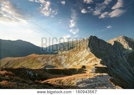 Tatra Mountains at sunrise in early autumn, Poland.
