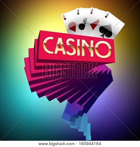 Modern style vector logotype for fashionable casino
