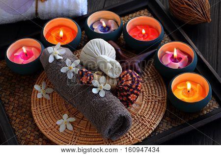 Luk Pra Kob Thai pattern for Spa and massage.