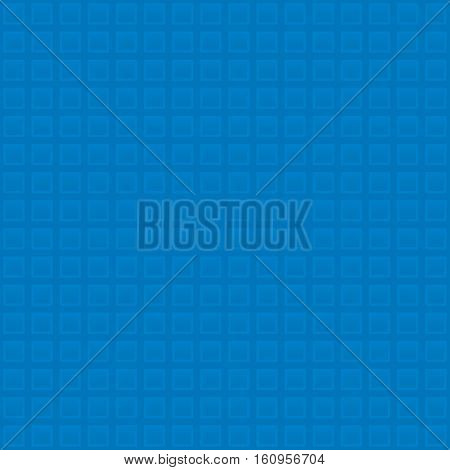Waffle pattern. Blue Neutral Seamless Pattern for Modern Design in Flat Style. Tileable Geometric Vector Background.