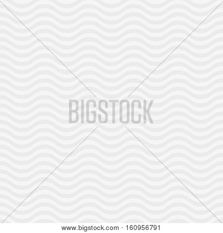 Wavy pattern. White Neutral Seamless Pattern for Modern Design in Flat Style. Tileable Geometric Vector Background.