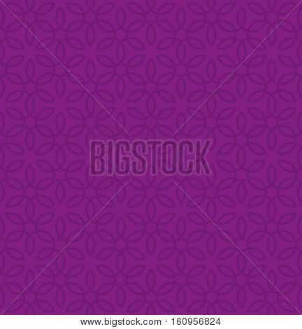 Floral ornament. Purple Neutral Seamless Pattern for Modern Design in Flat Style. Tileable Geometric Vector Background.