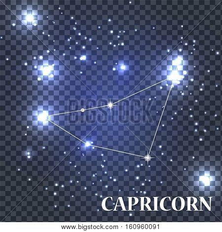 Symbol Capricorn Zodiac Sign. Vector Illustration EPS10