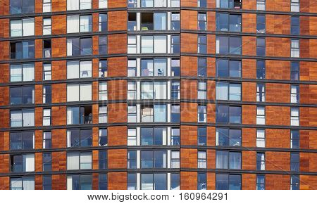 Building detail demonstrating contemporary architecture living and regeneration at Salford Quaysnear Manchester England.