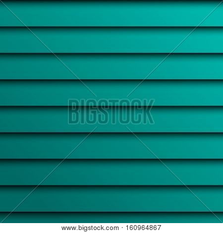 Bright turquoise color background texture jalousie illustration