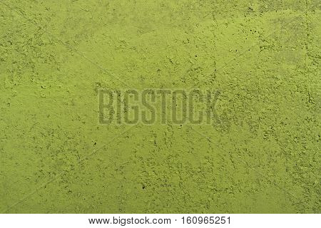 Stucco green wall background or texture. Plaster color lime green. Plaster, plaster texture, plaster background. Green wall, green background.