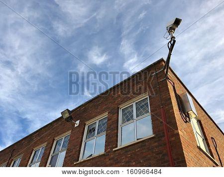Building exterior security camera