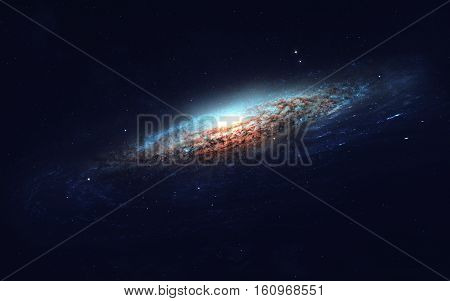 Deep space art. Nebulas, planets, galaxies and stars in beautiful composition. Awesome for wallpaper and print. Elements of this image furnished by NASA