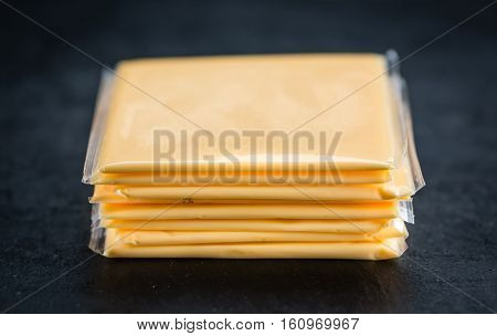 Sliced Cheese (selective Focus)