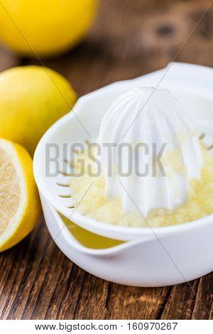 Lemon Juice (selective Focus)