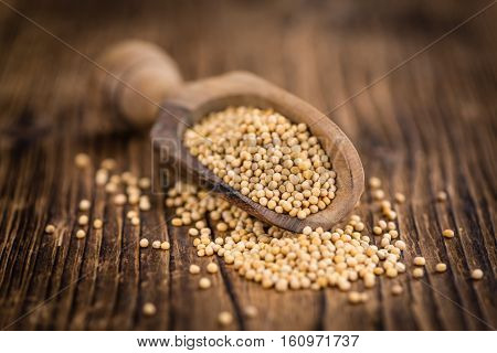 Portion Of Mustard Seeds