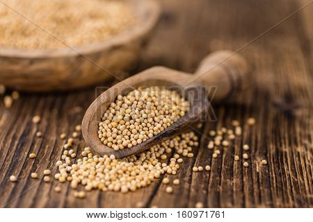 Portion Of Seeds (mustard) (selective Focus)